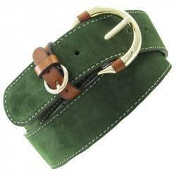 Cinturon MV54012 ante verde cuero