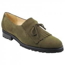 Zapato Morante ante flecos y lazo p.goma