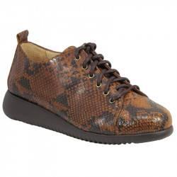 Zapato cordón box grabado reptil p.goma