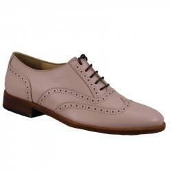 Zapato cordón 6019 box rosa p.suela