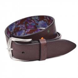 Cinturón BE14RO marrón con lunares incrustados