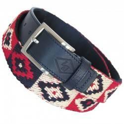 Cinturón Vill66 lona rojo-azul-blanco